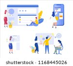 set group of business people... | Shutterstock .eps vector #1168445026