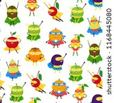 cartoon vegetables and fruit... | Shutterstock .eps vector #1168445080