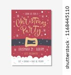 vector christmas party... | Shutterstock .eps vector #1168445110