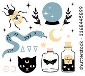 vector witch magic design... | Shutterstock .eps vector #1168445899