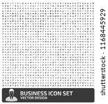 business vector icon set | Shutterstock .eps vector #1168445929
