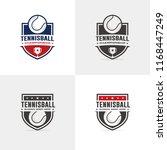 tennis logo set | Shutterstock .eps vector #1168447249