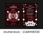 casino background poster  flyer ... | Shutterstock .eps vector #1168448530