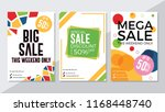 big sale  special sale and mega ... | Shutterstock .eps vector #1168448740