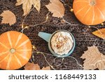 mug of coffee  cocoa or hot... | Shutterstock . vector #1168449133