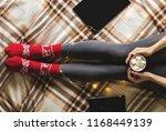 women's hands and feet in... | Shutterstock . vector #1168449139