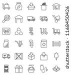 thin line vector icon set  ... | Shutterstock .eps vector #1168450426