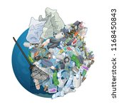 the pollution  garbage  plastic ... | Shutterstock .eps vector #1168450843