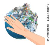 the pollution  garbage  plastic ... | Shutterstock .eps vector #1168450849