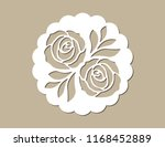 vintage lace place mat and... | Shutterstock .eps vector #1168452889