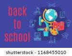 back to school horizontal flat... | Shutterstock .eps vector #1168455010