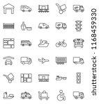 thin line vector icon set  ... | Shutterstock .eps vector #1168459330