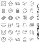 thin line vector icon set  ... | Shutterstock .eps vector #1168459393