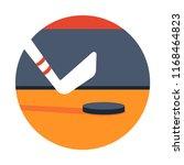 hockey stick and hockey puck... | Shutterstock .eps vector #1168464823