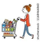 women  shopping  lifestyle   Shutterstock .eps vector #1168466860