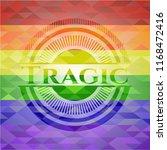 tragic emblem on mosaic...   Shutterstock .eps vector #1168472416