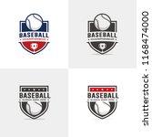 baseball logo set   Shutterstock .eps vector #1168474000
