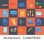 set of 20 icons such as folder  ...   Shutterstock .eps vector #1168478260