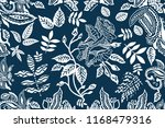 blue and white wide print.... | Shutterstock .eps vector #1168479316