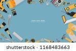 border frame of yellow color... | Shutterstock .eps vector #1168483663