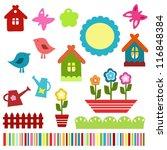 colorful scrapbook elements   Shutterstock . vector #116848384