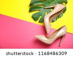 pair of beautiful shoes with... | Shutterstock . vector #1168486309