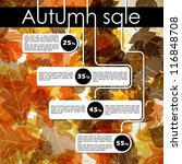autumn discount sale  eps10 | Shutterstock .eps vector #116848708