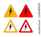 risk high icons  set shock... | Shutterstock .eps vector #1168489639