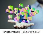 creative blocks in hand | Shutterstock . vector #1168495510