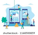 application development  web... | Shutterstock . vector #1168500859