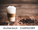 caffe latte layered with milk... | Shutterstock . vector #1168502389