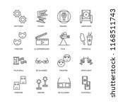 set of 16 simple line icons... | Shutterstock .eps vector #1168511743