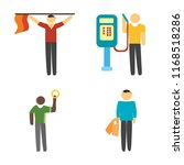 set of 4 vector icons such as... | Shutterstock .eps vector #1168518286