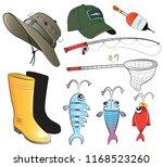 vector illustration fishing... | Shutterstock .eps vector #1168523260