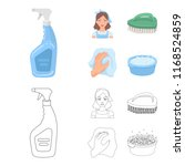 a cleaning woman  a housewife... | Shutterstock .eps vector #1168524859