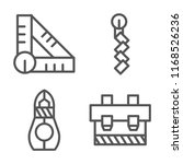 set of 4 vector icons such as... | Shutterstock .eps vector #1168526236