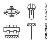 set of 4 vector icons such as... | Shutterstock .eps vector #1168526260