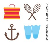set of 4 vector icons such as... | Shutterstock .eps vector #1168533910