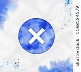 reject watercolor icon.... | Shutterstock .eps vector #1168534579