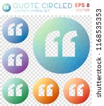 quote circled geometric... | Shutterstock .eps vector #1168535353