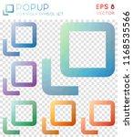 popup geometric polygonal icons.... | Shutterstock .eps vector #1168535566