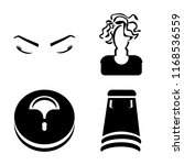 set of 4 vector icons such as... | Shutterstock .eps vector #1168536559