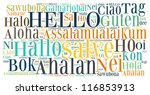 Word Collage Of Hello  Greet...