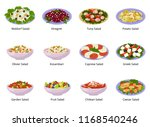 salad vector healthy food with... | Shutterstock .eps vector #1168540246