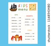 children's menu. design of the... | Shutterstock .eps vector #1168543480
