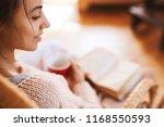 soft photo of woman in a wicker ... | Shutterstock . vector #1168550593