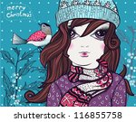 christmas vector illustration... | Shutterstock .eps vector #116855758