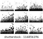 Set Of Nine Meadow Background....