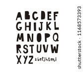 cartoon hand drawn alphabet.... | Shutterstock .eps vector #1168573393