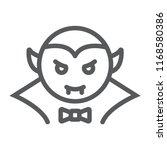dracula vampire line icon  bat...